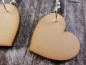 Preview: Herz Holz Ohrringe Wood heart Love Liebe