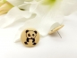 Preview: Panda Knopf Ohrstecker Holz Button