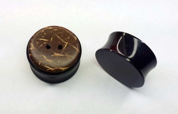 Knopf Plugs 20mm Paar 2cm Tunnels Plug button